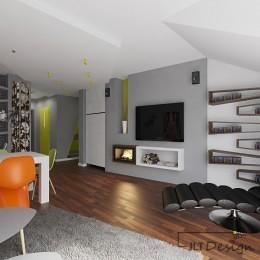 Projekt i realizacji wnętrza mieszkania w Pakości