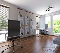 Wypełnione naturalnym światłem pomieszczenie zaprojektowane w charakterze pracowni.