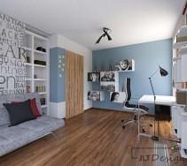 Biało - szare subletalne i delikatne wnętrze pokoju.