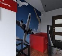 Samoloty na ścianie gabinetu