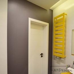 Łazienka  z grzejnikiem z naszego biura projektowego