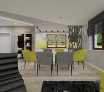 Stół dla gości i wygodne krzesła
