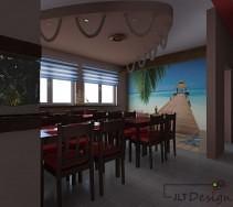 Restauracja o marinistycznym wystroju