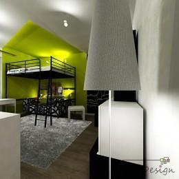Pokój dla nastolatki z łóżkiem z antresolą