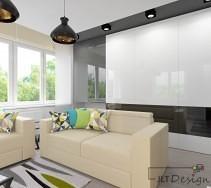 Przytulne kanapy w nowoczesnym salonie