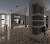 Ciepłe nowoczesne i przestronne wnętrze domu