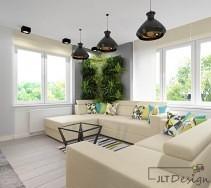 Piękne beżowe kanapy w salonie