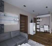 Wydzielone miejsce do pracy w salonie