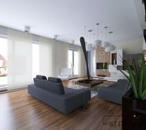 Designerska aranżacja przestronnego apartamentu