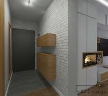 Mieszkanie, z dużą ilością naturalnego drewna