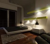 Projektowanie i aranżacja wnętrz - Sypialnie. Gra świateł w sypialni.
