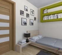 Nowoczesne spojrzenie na półki w sypialni