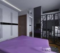 Wydzielony kącik biurowy w sypialni