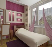 Dziewczęca sypialnia glamour