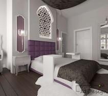 Ażurowy akcent na ścianie w sypialni