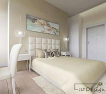 Sypialnia w ciepłych odcieniach wanilii