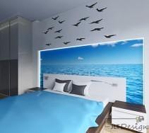 Morska aranżacja sypialni