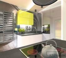 Fototapeta - tunel nadaje dynamiki w spokojnej kuchni