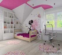 Biało różowy pokój dziecięcy