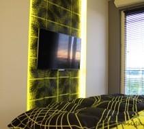 Telewizor w aranżacji sypialni