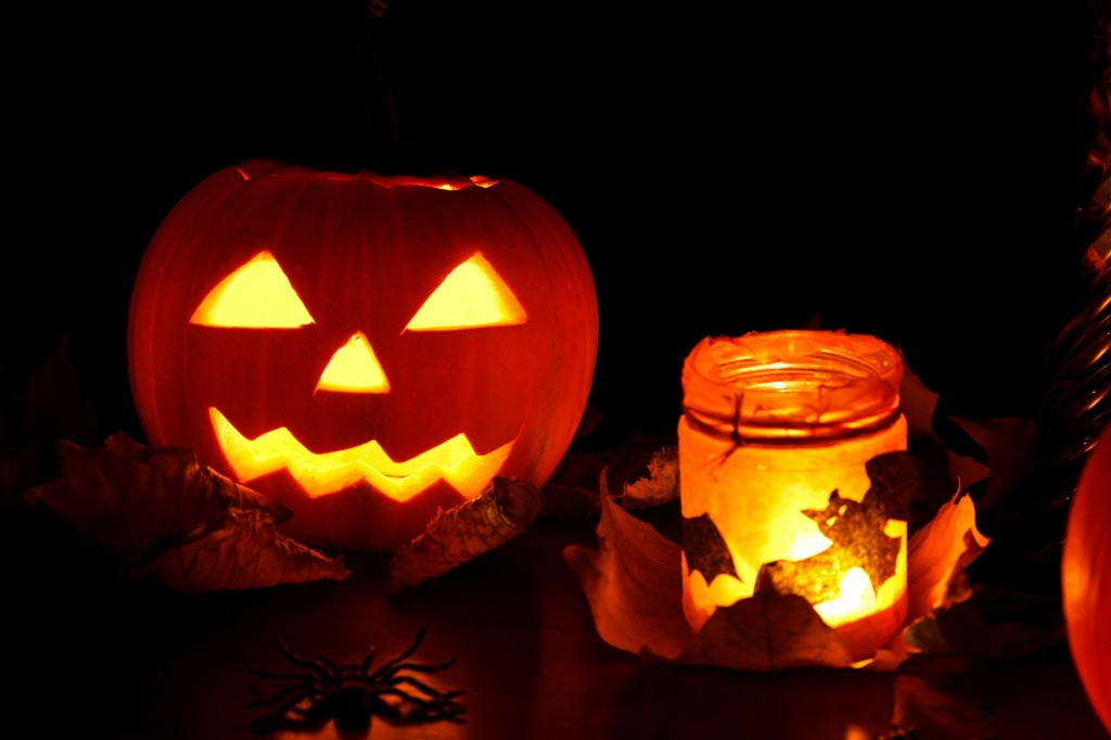 Dekoracje na Halloween.