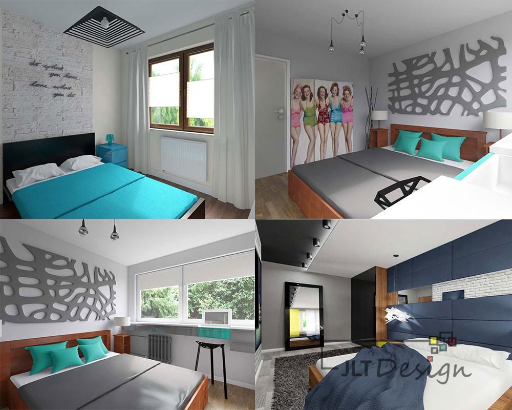Projektowanie i aranżacja wnętrz sypialni.