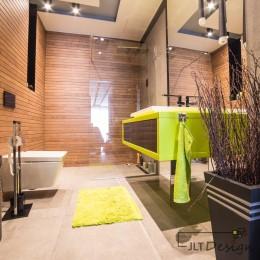 Łazienka zaprojektowana przez biuro projektancie z Bydgoszczy, JLT Design.