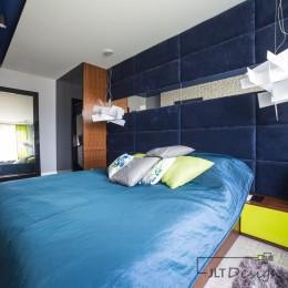 Projekt wnętrza sypialni w apartamencie zaprojektowanym przez JLT Design, Bydgoszcz.