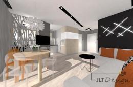 Mieszkanie z kolorowymi dodatkami