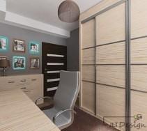 Niewielkie i funkcjonalnie zaprojektowane wnętrze pokoju.