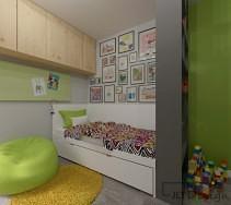 Kącik do spania w pokoju dziecięcym