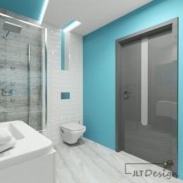 Turkusowa farba nasicanie łazienki
