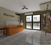 Wnętrze ożywia pomarańczowa sofa
