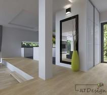 Aranżacja otwartej przestrzeni salonu z jasną podłogą