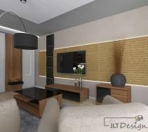 Przytulne mieszkanie z designerską ścianą