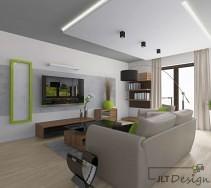 Designerskie wnętrze z dodatkiem limonki
