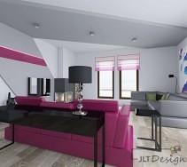 Salon w kolorze fuksji