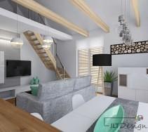 Nowoczesne mieszkanie z antresolą