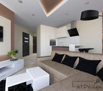 Projektowanie wnętrz z kanapą w centralnym miejscu salonu