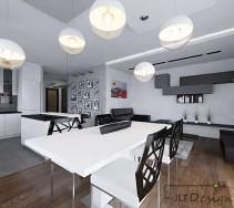 Kuchnia salon i jadalnia jako jedna otwarta przestrzeń