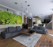 Relaksujący obraz w designerskim apartamencie