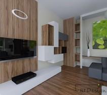 Ciekawe półki na ścianie z telewizorem