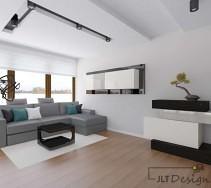Połyskujące powierzchnie w salonie