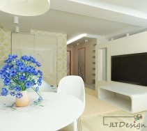 Białe meble w jasnym salonie