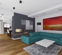 Klimatyczny salon w ciepłych żywych kolorach