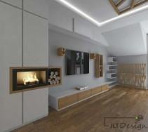 Zabudowa ścian pomysły na aranżację salonu