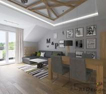 Kolory szarości i naturalne materiały wykorzystane w wystroju mieszkania