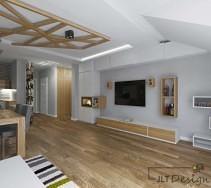 Aranżacja mieszkania zgodnego z naturą pomysł na nietypowy sufit