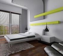 Projekty i aranżacje wnętrz - Sypialnie: Nowoczesna sypialnia z ciekawym sufitem