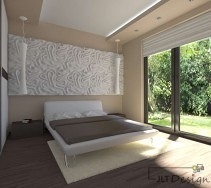 Minimalistyczna sypialnia w odcieniach beżu i brązu
